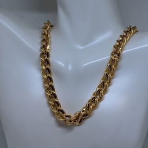 Vintage Napier Thick Wide Gold Chain Necklace